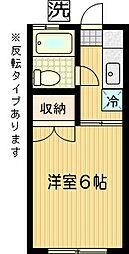 サンパークNAKAJIMA[202号室]の間取り
