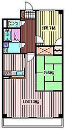フローラ浦和[6階]の間取り