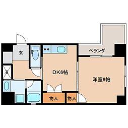 静岡県静岡市葵区上石町の賃貸マンションの間取り