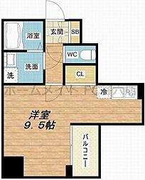 Y&Rino Residence 2階ワンルームの間取り