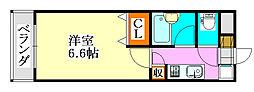 エスペランサK津田沼駅前[107号室]の間取り