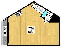 チサンマンション第一博多[3階]の間取り