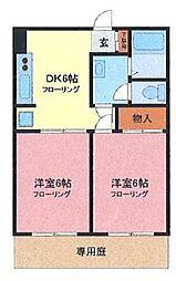 埼玉県川口市木曽呂の賃貸アパートの間取り