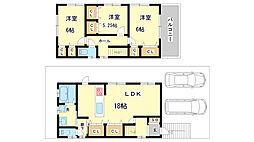 [一戸建] 兵庫県神戸市垂水区神陵台8丁目 の賃貸【/】の間取り