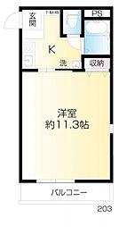 ラビングパレス西武柳沢[203号室]の間取り