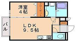 カーサミニーノ[1階]の間取り