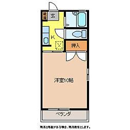 セフィーラ杏里[1階]の間取り