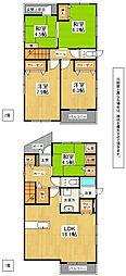 [一戸建] 福岡県北九州市八幡西区則松4丁目 の賃貸【/】の間取り