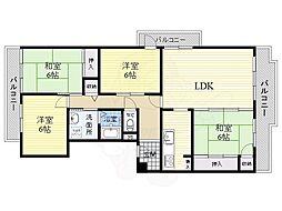 Osaka Metro南港ポートタウン線 ポートタウン西駅 徒歩9分の賃貸マンション 10階4LDKの間取り