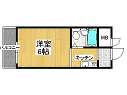 ローズマンション今里[4階]の間取り