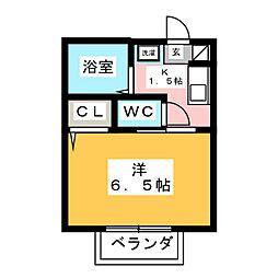 コーポFUJI[1階]の間取り