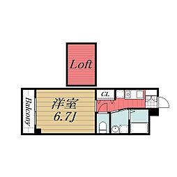 千葉県千葉市稲毛区穴川3丁目の賃貸アパートの間取り
