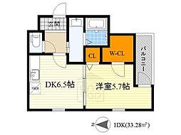 くすのきアパートメント2[2階]の間取り