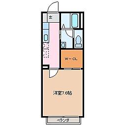 ドミール渚[2階]の間取り