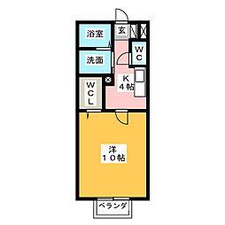 朱の里[1階]の間取り