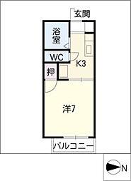 ドミールI[2階]の間取り
