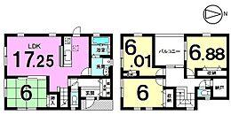 土地面積60.02坪収納スペースもたっぷり確保しました。モデルルームもございますのでお気軽にお問合せ下さい。