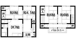 [テラスハウス] 兵庫県宝塚市高司1丁目 の賃貸【/】の間取り