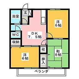 エステートピア武田A[2階]の間取り