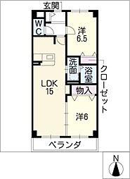 ソフィア北新開[3階]の間取り