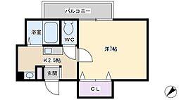U−ro桜木[304号室]の間取り