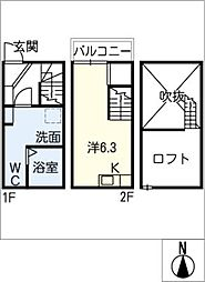[タウンハウス] 愛知県尾張旭市桜ケ丘町西 の賃貸【/】の間取り