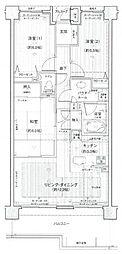 ランドステージ高津多摩川[2階]の間取り
