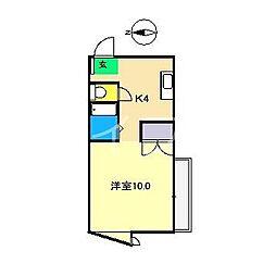白竜マンション[4階]の間取り
