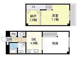 大阪モノレール本線 千里中央駅 徒歩7分の賃貸マンション 1階1SDKの間取り