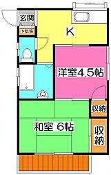 [一戸建] 埼玉県所沢市大字久米 の賃貸【/】の間取り
