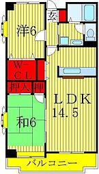 ヴァンドーム松戸弐番館[3階]の間取り