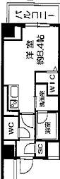 Osaka Metro長堀鶴見緑地線 西長堀駅 徒歩3分の賃貸マンション 11階1DKの間取り