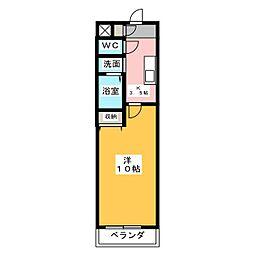 マメゾン24 3階1Kの間取り