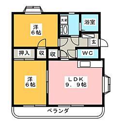 サクセス II[1階]の間取り