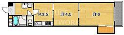 京都ノーザンフラット[408号室号室]の間取り