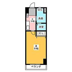 グレース篠木V[3階]の間取り
