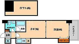 T'sSQUARE天神橋[3階]の間取り
