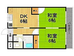 タカハタマンション[2階]の間取り
