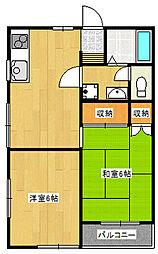 トラッドハウス[208号室]の間取り