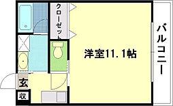 広島電鉄6系統 舟入町駅 徒歩18分の賃貸マンション 6階1Kの間取り