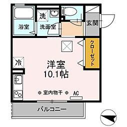 新築D-room ライナス辻堂[103号室]の間取り