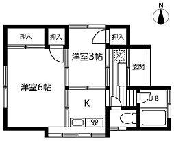 [一戸建] 埼玉県さいたま市中央区上落合6丁目 の賃貸【/】の間取り