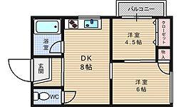 西田マンション[3階]の間取り
