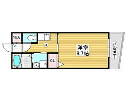 アベニール北花田[3階]の間取り