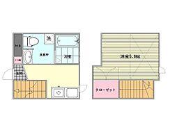 ラ・クラッセ飯倉II[1階]の間取り