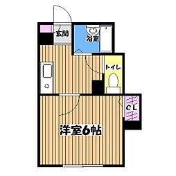メディオ三鷹[3階]の間取り