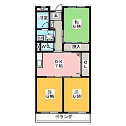 リンピア7[3階]の間取り