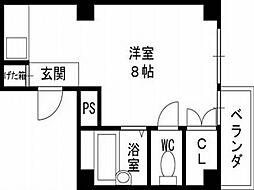 コンラッド布施[3階]の間取り