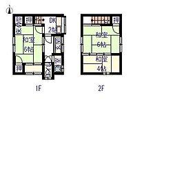 井貫貸家(3戸1)[南号室号室]の間取り