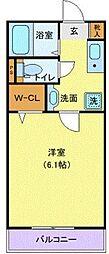 Wing湘南 2階1Kの間取り
